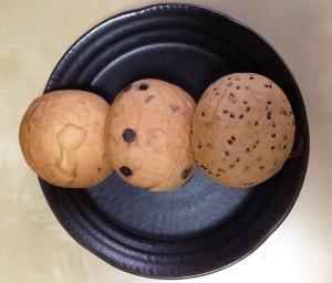 温泉パン3種 表面