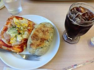 カフェコア ピザ、ミソチキン