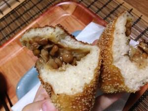 納豆パン 断面