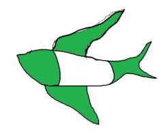 freeeの緑の鳥
